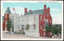 FREDERICKSBURG VA Masonic Lodge Continental Tea Shoppe Vtg Postcard Old Virginia