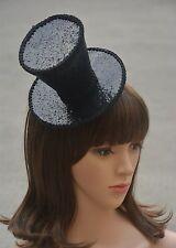 Handmade Cosplay Magician Vampire Sequins Mini Top Hat Black/Red A150