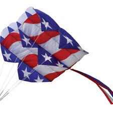 Kite Patriotic Parafoil 7.5 Single Line Kite with Winder & String ..25..PR 12049