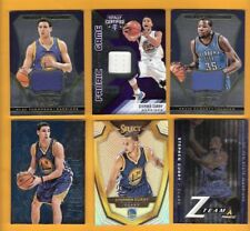 KEVIN DURANT STEPHEN CURRY KLAY THOMPSON GAME USED JERSEY CARD + PRIZM & Z TEAM