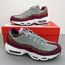 New Women's Nike Air Max 95 PRM Size 8 Bordeaux-Yellow 807443-601 Running Shoes