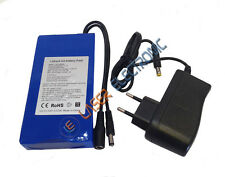 Batteria a Litio Ricaricabile Alta Capacità 12V Volt  6.8AH Ampere + Charger 1AH