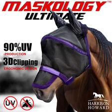 Harrison Howard Maskology ultimate fly mask 90% UV Shield Cooling Free Postage
