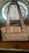 Tignanello Cognac Soft Leather Satchel Shoulder Bag  Exterior Pockets VGC