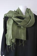 Etole soie sauvage Thaïlandaise, couleur vert olive