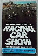 International Racing Car Show BRSCC programa de guía oficial 1973