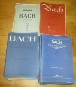 Huge lot of 78 Johann Sebastian BACH Musical Vocal Scores Carus Klavierauszug