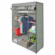 "53"" Portable Closet Wardrobe Clothes Rack Storage Organizer W/ Shelf Shelves US"