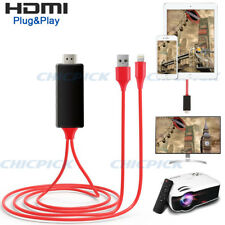 2K Lightning to HDMI TV AV Media Cable Adapter for iPhone X 7 6 iPad Projector