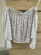 Zara Lace Top S White RRP £29.99 SOLD OUT