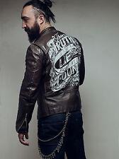 Leather jacket Vintage VERY RARE! Beck Buco Schott cafe racer 40 biker Patina(9)