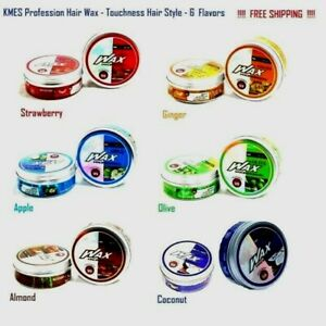 Kmex HAIR WAX Profession Touchness 99% Style 6 FLAVORS Aromatic Herbal For SALON