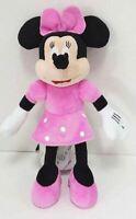 Peluche Minnie Disney Clásica Texto Original en Vestido Rosa Lunares y Arco 25