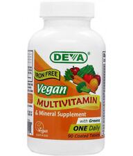 DEVA Vegan Multivitamin and Mineral Supplement IRON FREE x 90 Tabs, Gluten Free