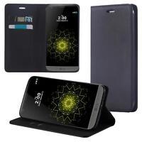 Funda-s Carcasa-s para LG Q6 Libro Wallet Case-s bolsa Cover Negro