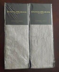 Donna Karan Alloy Collection STANDARD QUEEN Pillow Sham Set of 2 Taupe Alloy