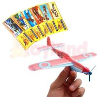 6 24 48 FLYING GLIDER PLANES TOY PRIZES FAVORS LOOT BIRTHDAY PARTY BAG FILLERS