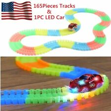 Magic Tracks As Seen On TV Glow In The Dark Track 165 Pieces With 1 LED Car BT