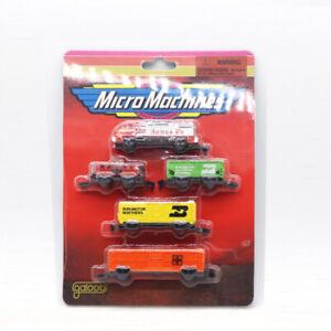 5PCS Mini Pioneer MICRO MACHINES TRAIN  MODEL GALOOB PLASTIC RARE COLLECTION