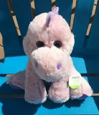Pink & Purple Plush Dinosaur Toy New 12� No Pellets Purple Eyes Dino Animal