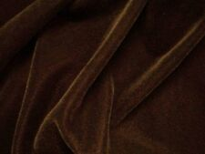 """45"""" SOLID BROWN ACETATE TRIPLE VELVET FABRIC UPHOLSTERY YARD / WHOLESALE ROLL"""