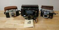 Vintage Kodak Camera Lot - Automatic 35B, Pony 135, 2-A (2A) Autographic Brownie