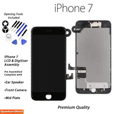 NEW iPhone 7 Retina LCD Digitiser Touch Screen Full Assembly with Parts - BLACK