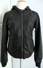 SUPERDRY RAMONA FORCES BOMBER LEATHER JACKET Damen Lederjacke Gr.L NEU + ETIKETT