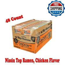 Nissin Top Ramen, Chicken Flavor, No Added MSG, No Trans Fat, 3 Ounce, 48 Count