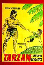 TARZAN & HIS MATE WEISSMULLER 1960'S MAUREEN O'SULLIVAN UNIQUE UGLY RARE MOVIE P