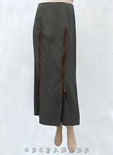 Jupe DE LA VEGA marron T. 34 XS 0 Longue Coton polyamide long skirt Rock Falda