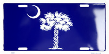 South Carolina State Flag License Plate Sign MADE IN THE USA