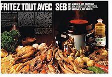 F- Publicité Advertising 1970 (2 pages) Friteuse electrique SEB Huile Lesieur