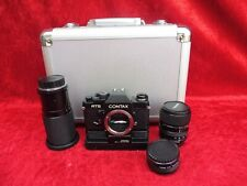 Camera__Contax RTS __ With Motor, 3 Lenses And Aluminum Case __