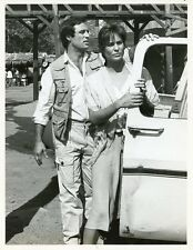 JOE PENNY CRISTINA RAINES RIPTIDE ORIGINAL 1985 NBC TV PHOTO