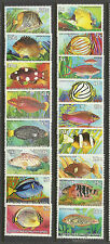 COCOS IS 1979-1980 FISHES COMPLETE SET OF 17v MNH