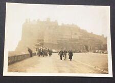 PHOTOGRAPH Edinburgh Castle 8.5cm x 6cm SCOTLAND 1937 Street View Old Cars 1416