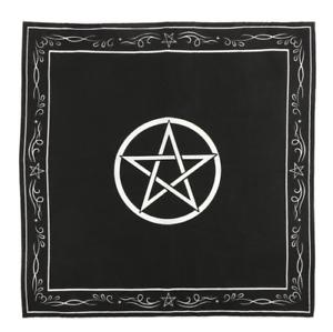 Pentagram Cloth Mystical Spell 70X70CM Wicca Pagan Ritual Goth Pentacle Witch UK