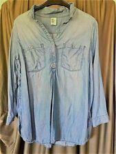 Umstandskleidung Jeans Bluse &Denim Gr. XL blau