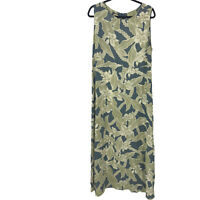 Tommy Bahama Women's Size 14 Blue Floral Maxi Dress Ladies 100% Rayon