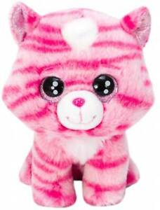 "LIL PEEPERS 8"" (20cm) Plush - Pink Cat Lucky - Russ / Kellytoy"