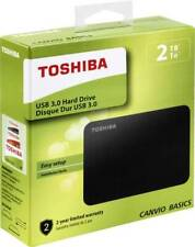 HARD DISK ESTERNO 2,5 USB 3.0 2TB 2000GB TOSHIBA CANVIO BASICS MODELLO 2018