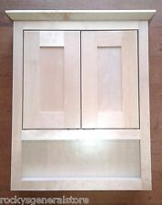 Bathroom Vanity Wall Cabinet Above Toilet Over-the-John Natural Maple Shaker New