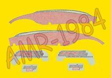 SERIE ADESIVI DECALCO CODONE APRILIA RS 50 1999 NERO ROSSO  AP8257400