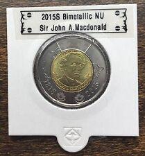 CANADA 2015 New 2 dollar TOONIES Sir John A.Macdonald (BU from mint roll)
