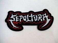 Sepultura Iron On Patch Thrash Speed Black Metal GOTH Deathrock Punk