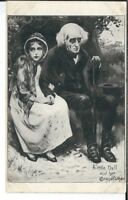 CA-289 Little Nell and Her Grandfather Divided Back Postcard She looks protectiv
