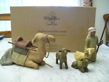 Willow Tree Nativity Shepherd and Stable Animals with Box