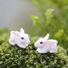 New 1PCS fairy garden miniatures Cartoon cute little rabbit doll mini DIY