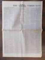 VINTAGE NEWSPAPER THE TIMES JUNE 5th 1940 EVACUATION AT DUNKIRK